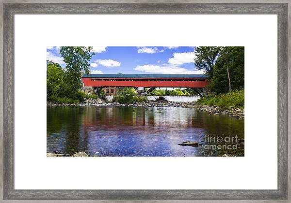 Taftsville Covered Bridge. Framed Print