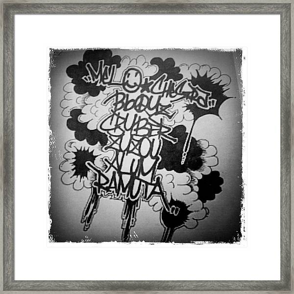 Tagging Framed Print