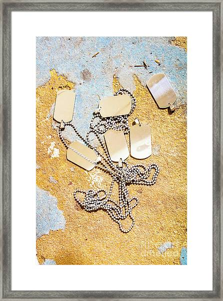 Tags Of War Framed Print