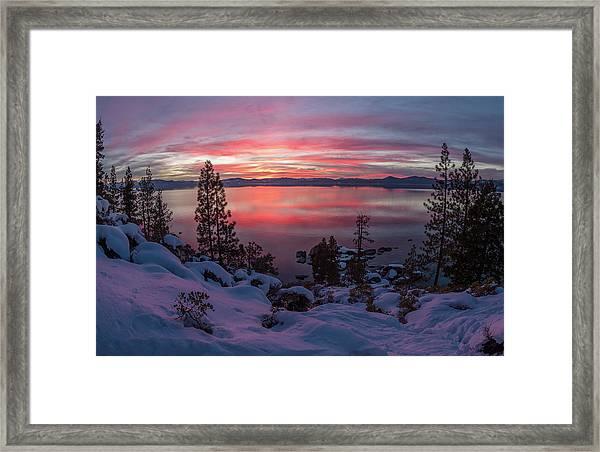 Tahhhhhoe Sunset Framed Print