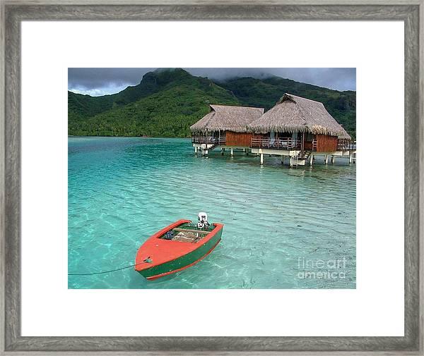 Tahitian Boat Framed Print