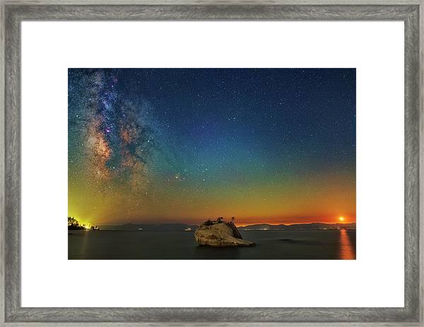 Tahoe Nights Framed Print