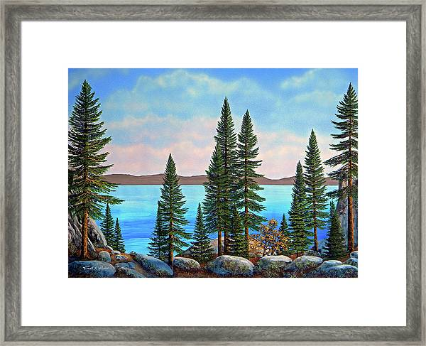Tahoe Shore Framed Print