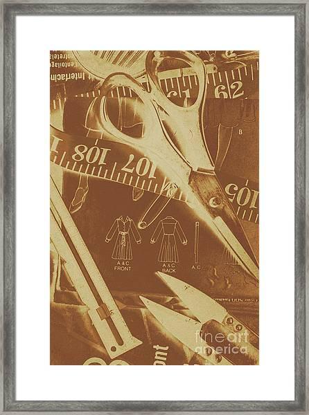 Tailor Art Framed Print