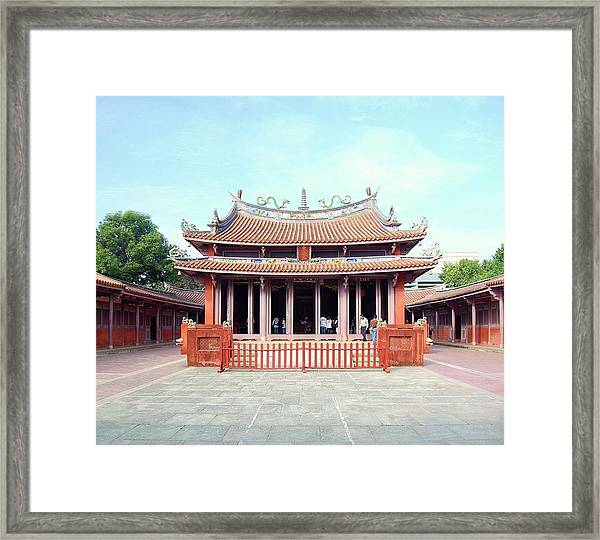 Framed Print featuring the photograph Tainan Confucian Temple by HweeYen Ong