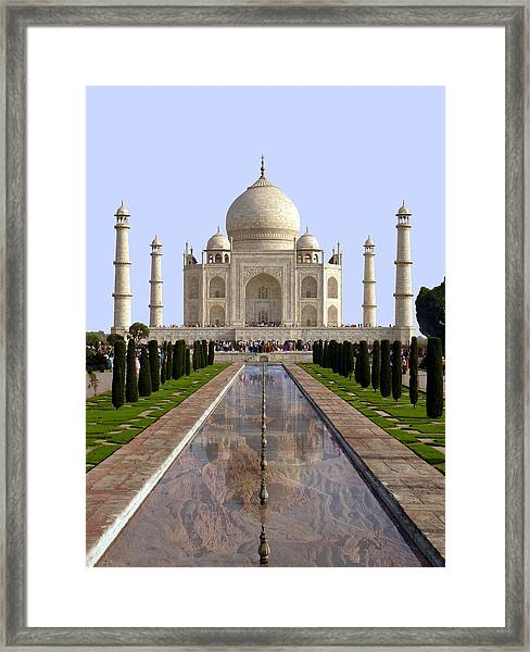 The Taj Mahal - Grand Canyon Mash-up Framed Print