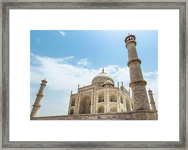 Framed Print featuring the photograph Taj Mahal by Chris Cousins