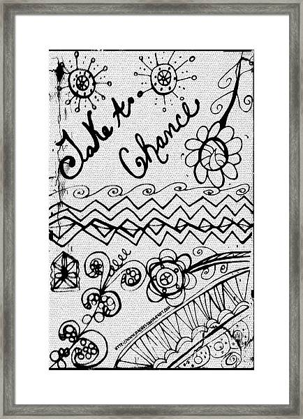 Framed Print featuring the drawing Take A Chance by Rachel Maynard