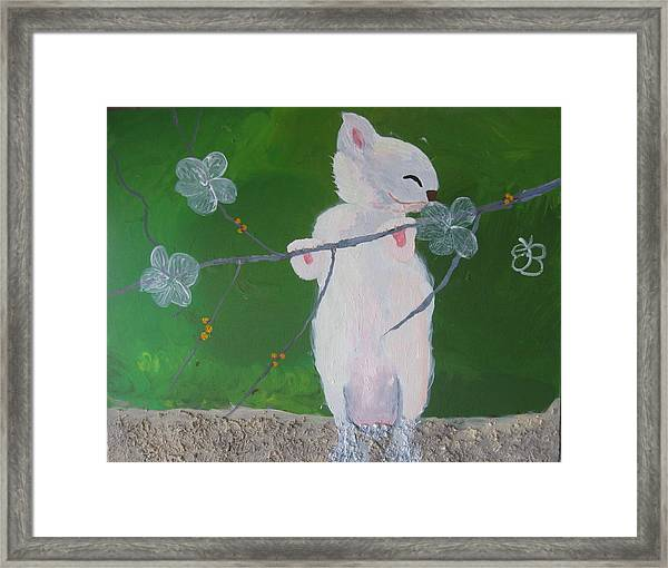 Take Time To Smell The Flowers Framed Print