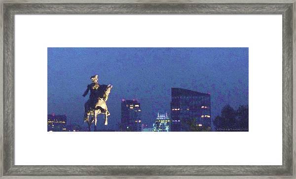 Takin' On Boston Framed Print