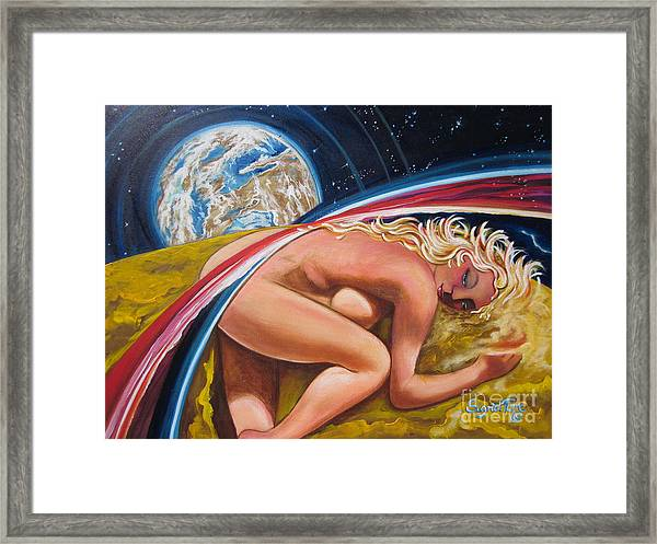 Moonresting Goddess Odins Wife   Framed Print