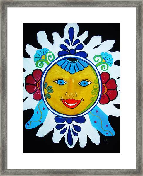 Talavera Sun Framed Print