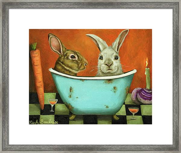 Tale Of Two Bunnies Framed Print