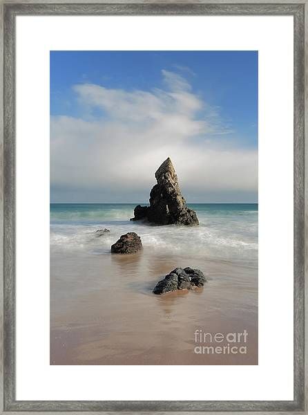 Tall And Proud On Sango Bay Framed Print
