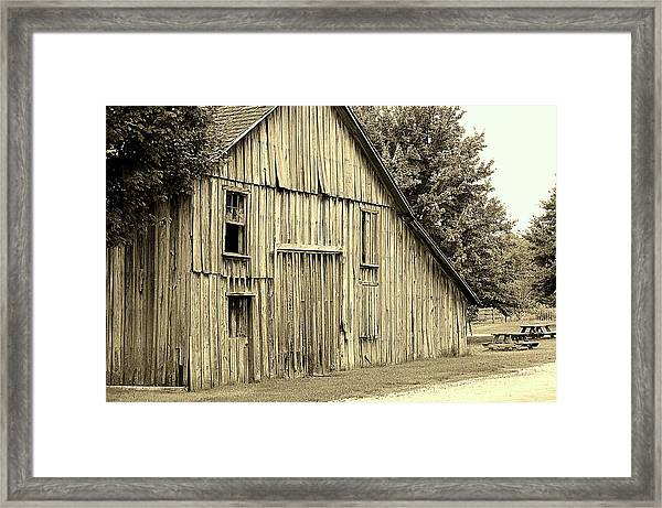 Tall Barn Framed Print
