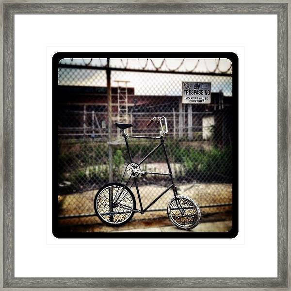 Tall Bike Framed Print