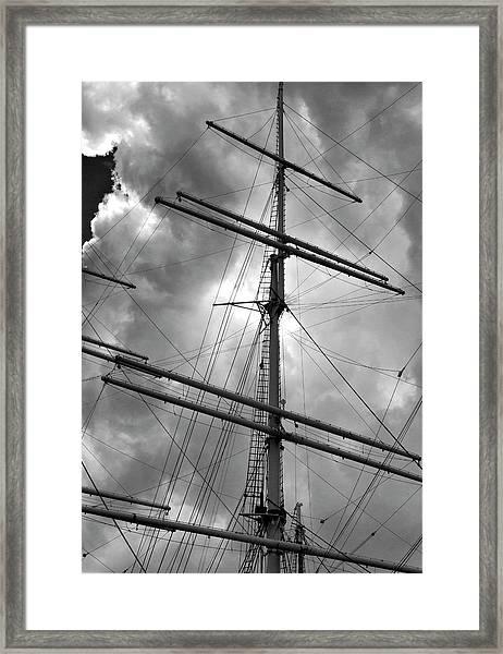 Tall Ship Masts Framed Print