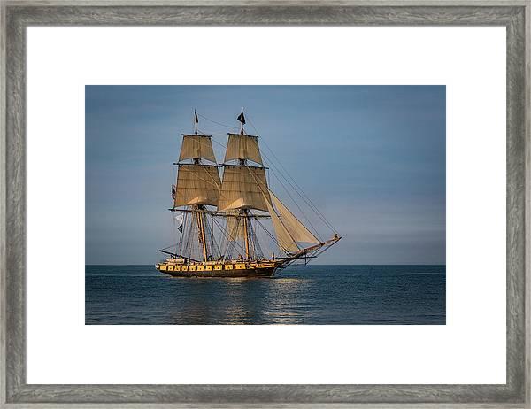 Tall Ship U.s. Brig Niagara Framed Print