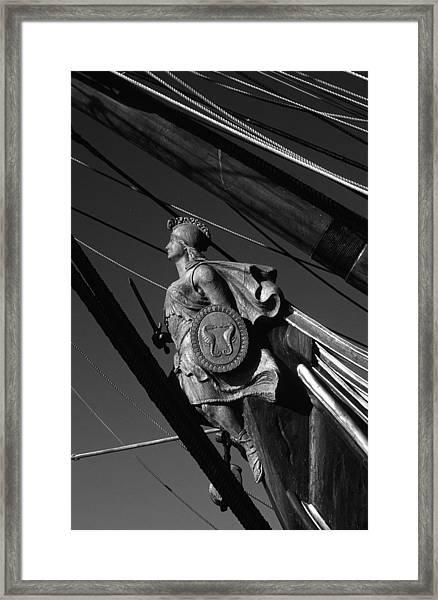 Tallship Figure Head Framed Print