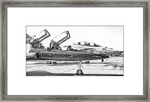 Talon Vs. Hornet Framed Print
