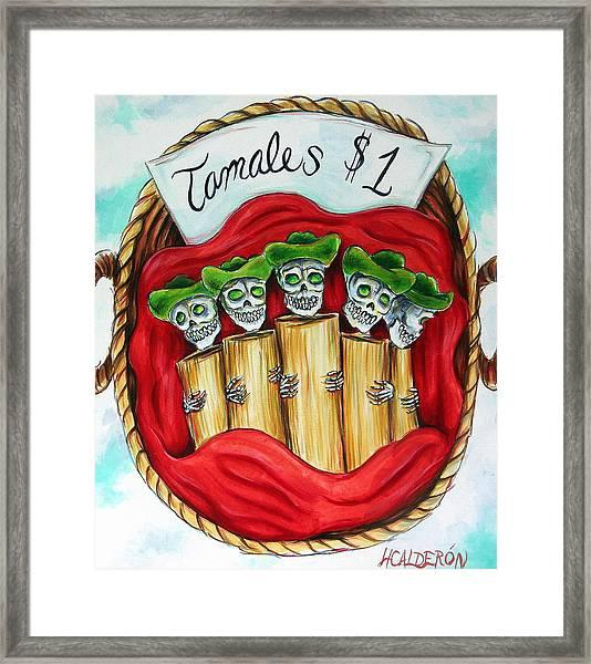 Tamales One Dollar Framed Print