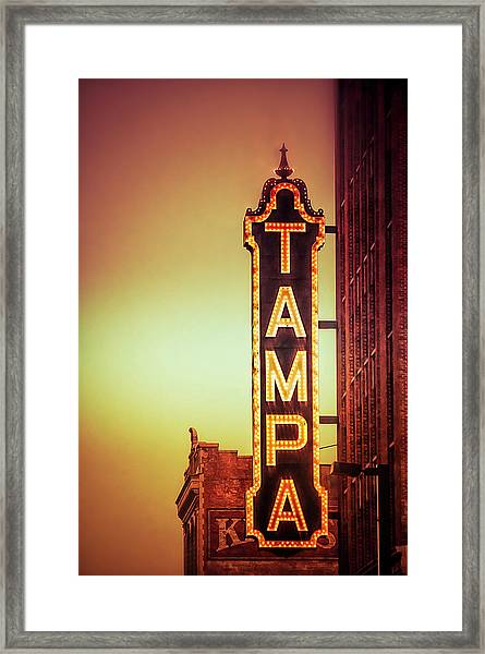 Tampa Theatre Framed Print