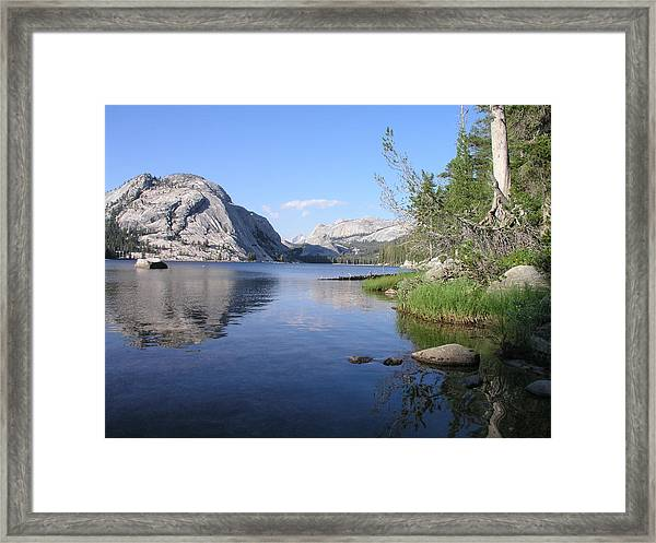 Tanaya Lake Framed Print by Mark Stevenson