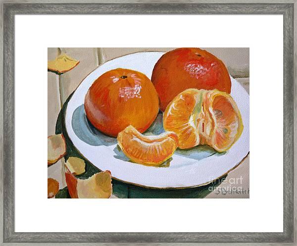 Tangerine Framed Print by Sandra Bellestri