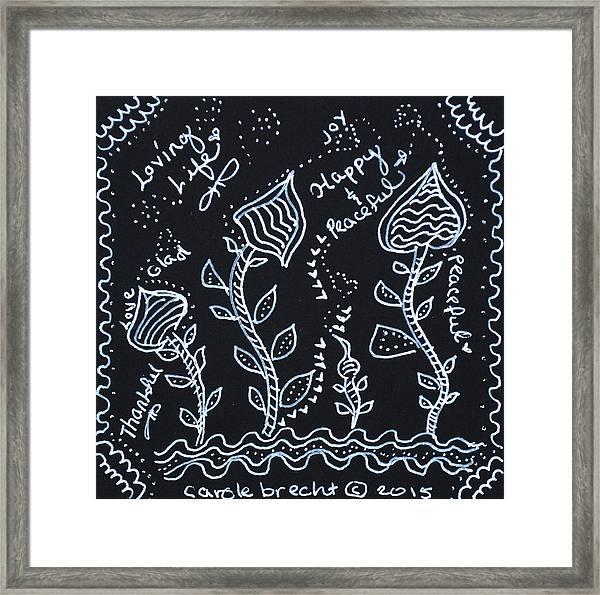 Tangle Flowers Framed Print