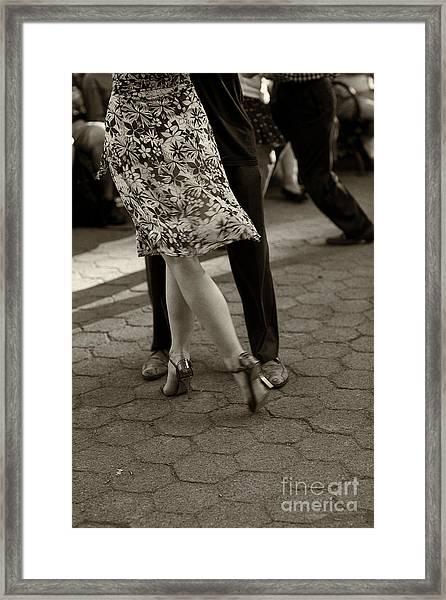Tango In The Park Framed Print