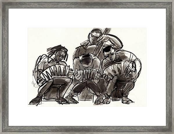 Tango Musicians Framed Print