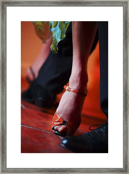 Tango Toes Framed Print