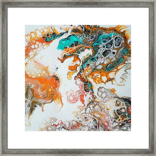 Tango With Turquoise Framed Print