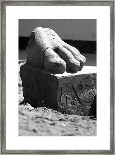Tanis Foot Framed Print