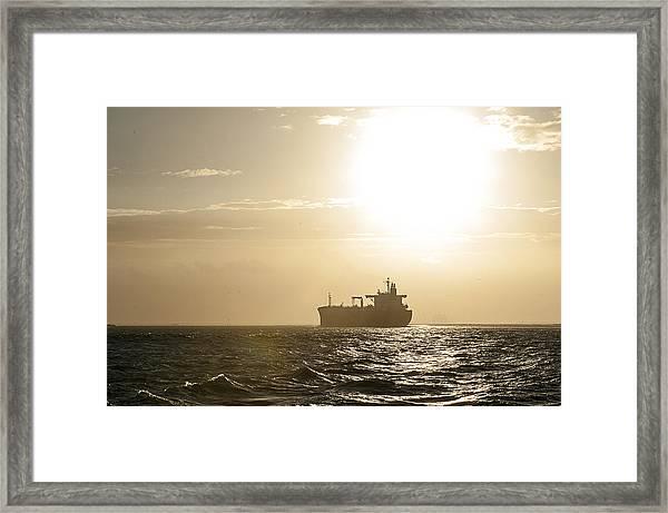 Tanker In Sun Framed Print