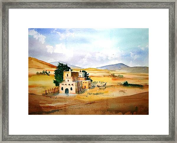 Taos Adobe Framed Print