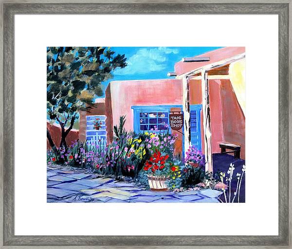 Taos Book Shop Framed Print
