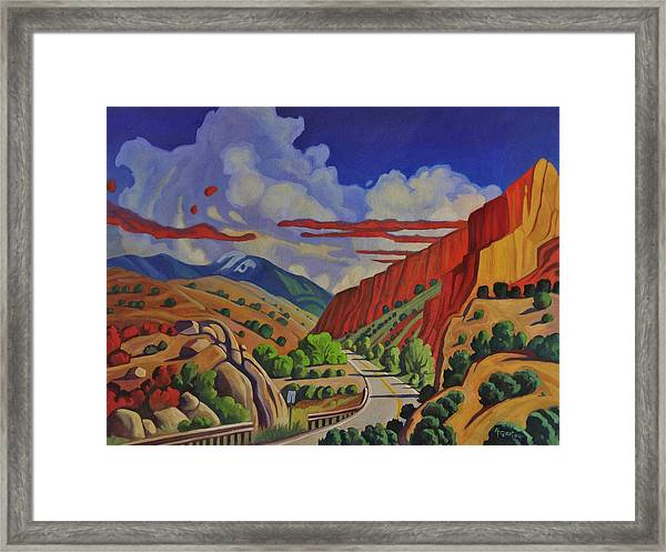 Taos Gorge Journey Framed Print