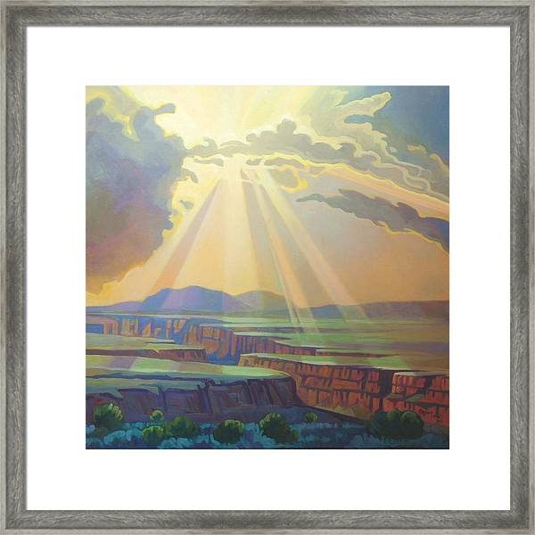 Taos Gorge God Rays Framed Print