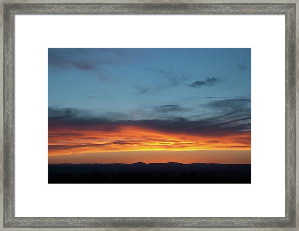 Taos Mesa Sunset Framed Print