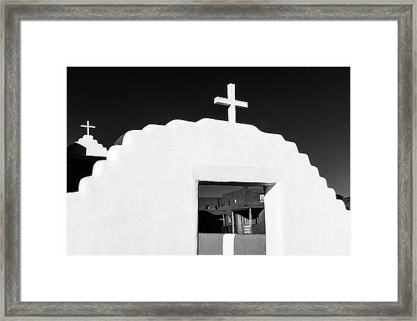 Taos Pueblo Church Framed Print