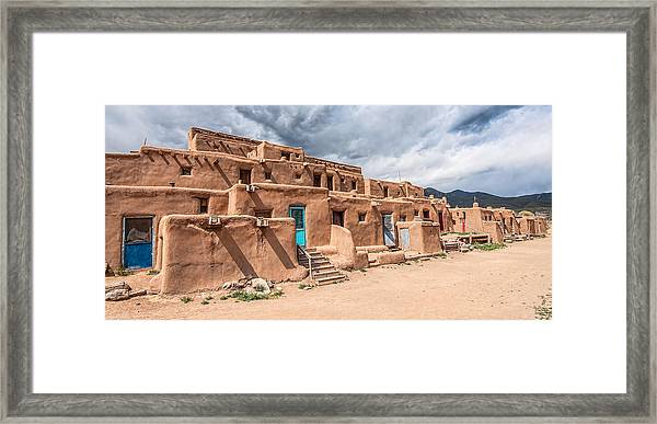 Framed Print featuring the photograph Taos Pueblo New Mexico by Britt Runyon