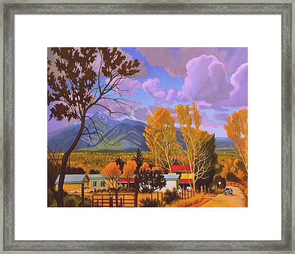 Taos Red Roofs Framed Print