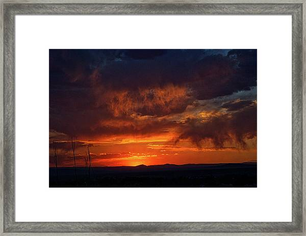 Taos Virga Sunset Framed Print