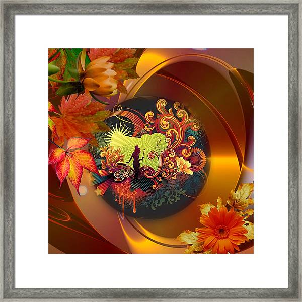 Tap Dancer Surrounded By Nature's Glamour Framed Print