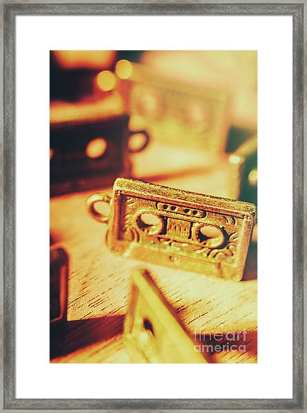 Tapes From The Golden Oldies Framed Print