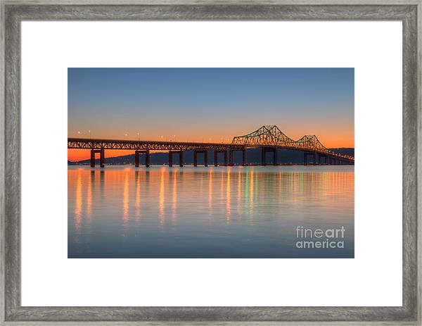 Tappan Zee Bridge After Sunset II Framed Print