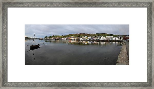 Tarbert Harbour - Panorama Framed Print