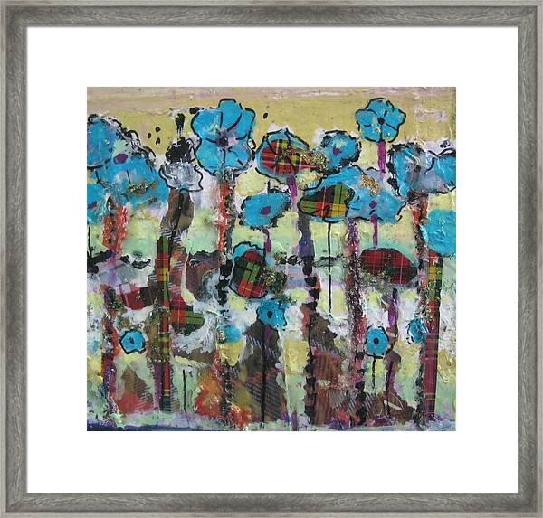Tartan Garden Framed Print
