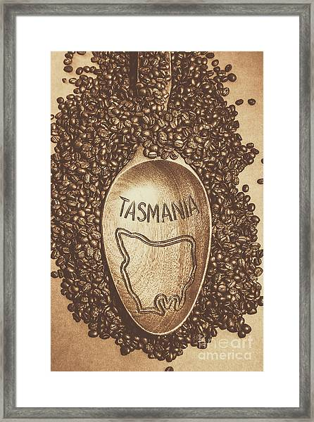 Tasmania Coffee Beans Framed Print